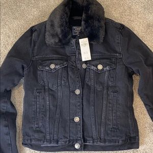 Abercrombie and Fitch black jean jacket